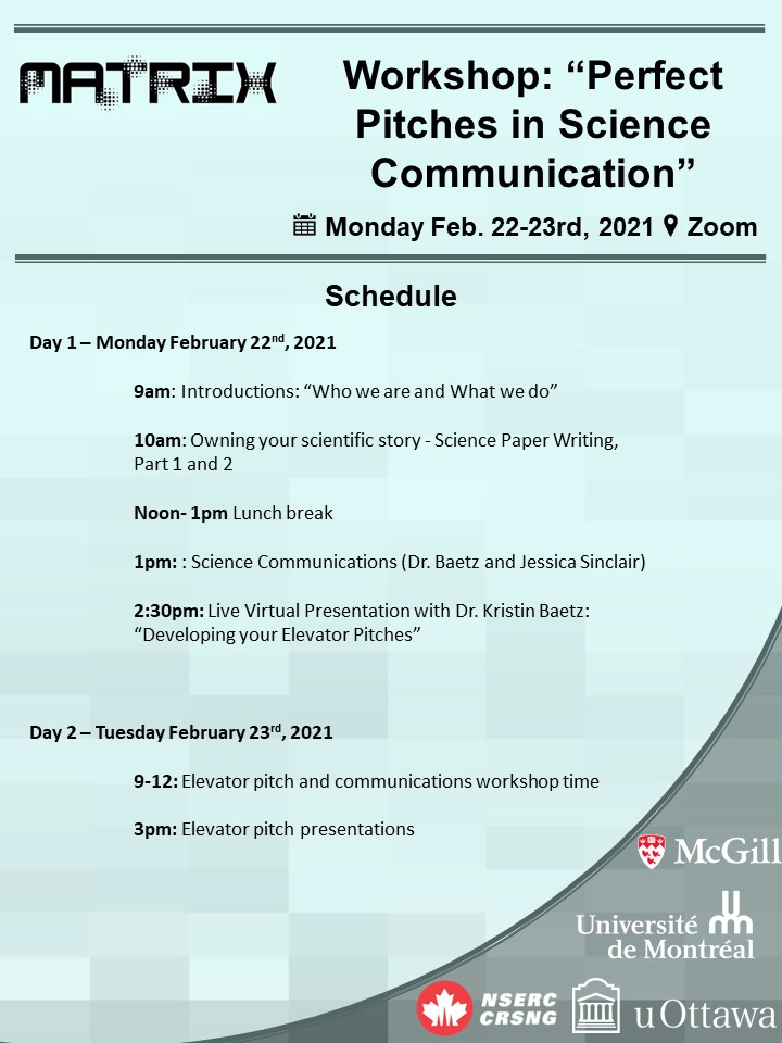 MATRIX Communications Workshop 2021